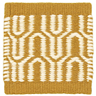 Handvävd matta Alba Mustard-White.