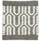 Handvävd matta Alba White-Grey.