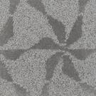 Handtuftad matta Aster Vintage Lilja Silver Grey.