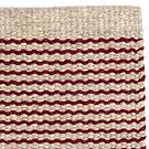Handvävd matta Embla Beige Deep Red.