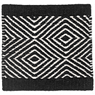 Handvävd matta Fenix Black-White.