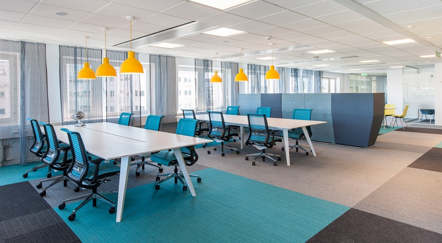Textila plattor Lateral på Microsofts kontor.