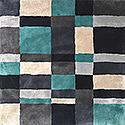 Handtuftad matta Landscape färg Arctic, design av Mia Wahlstein.