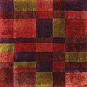 Handtuftad matta Landscape färg Kenya, design av Mia Wahlstein.