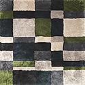 Handtuftad matta Landscape färg Scandinavia, design av Mia Wahlstein.