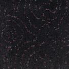 Handtuftad matta Siri Flora Black Grape.