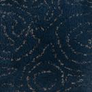 Handtuftad matta Siri Flora Midnight Blue.