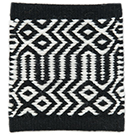 Handvävd matta Tova Black-White.