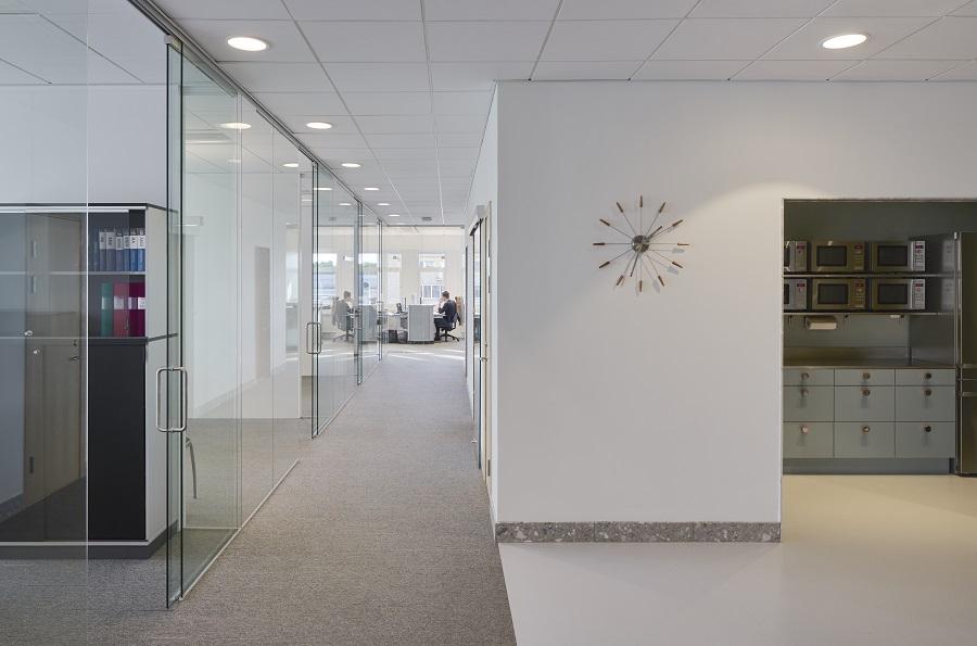 Textila plattor Tivoli på MVBs kontor, projekt av Gustav Appell Arkitektkontor.