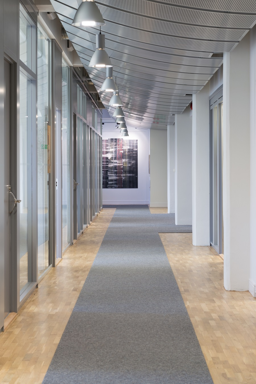 Gångmattor kvalitet Tretford på Elektas kontor, projekt av GWSK Arkitekter.