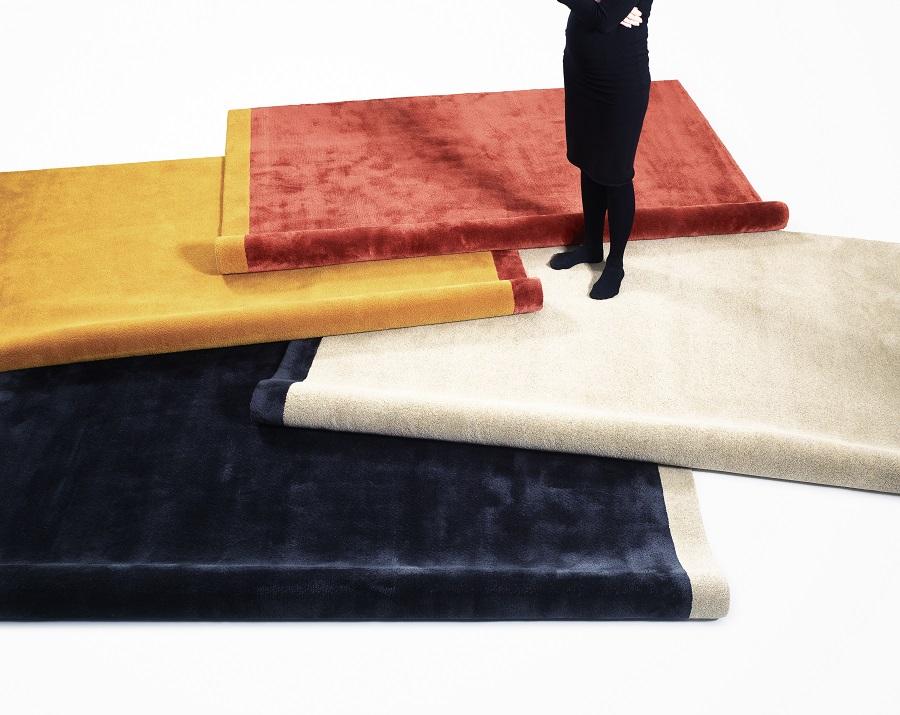 Handtuftad matta Palette by Note Design Studio i fyra olika färgställningar.