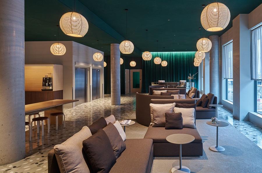 Matta Queensland i lounge på Hotel Zander K, Bergen, projekt av Claesson Koivisto Rune.