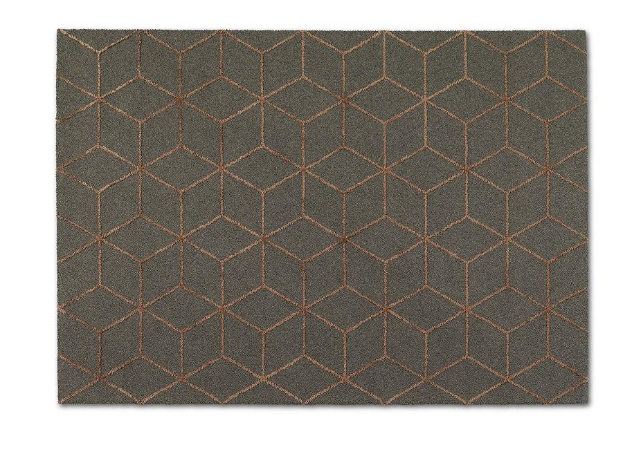 Handtuftad matta Vega Aster Design, färg Graphic Cube, från Ogeborg Design Collection.
