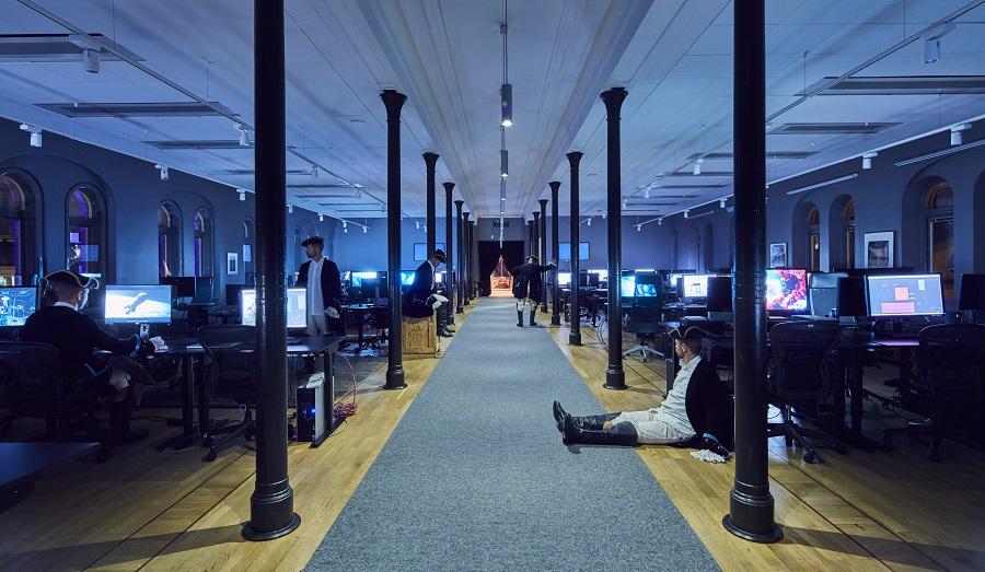 Matta Tretford på Important Looking Pirates kontor, projekt av HOW Arkitekter.