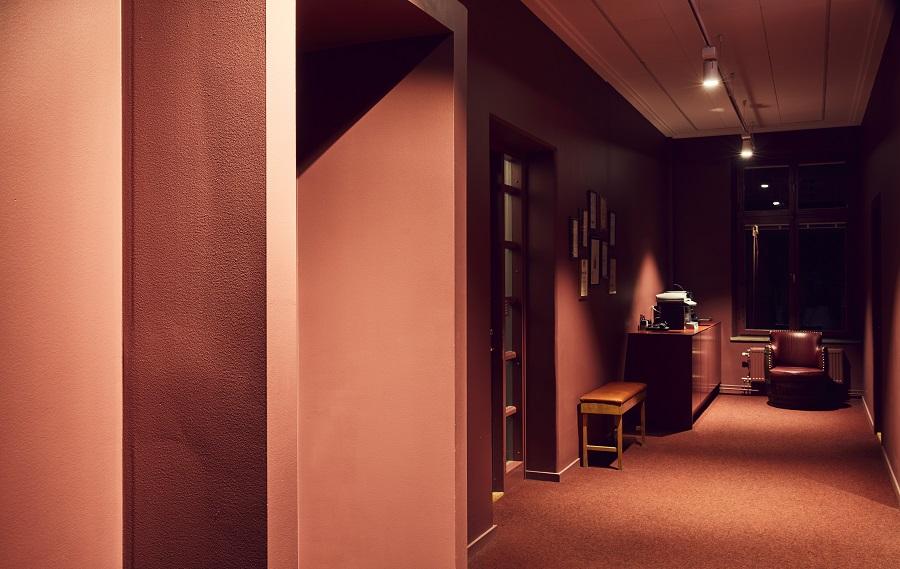Heltäckande matta Tretford på Important Looking Pirates kontor, projekt av HOW Arkitekter.