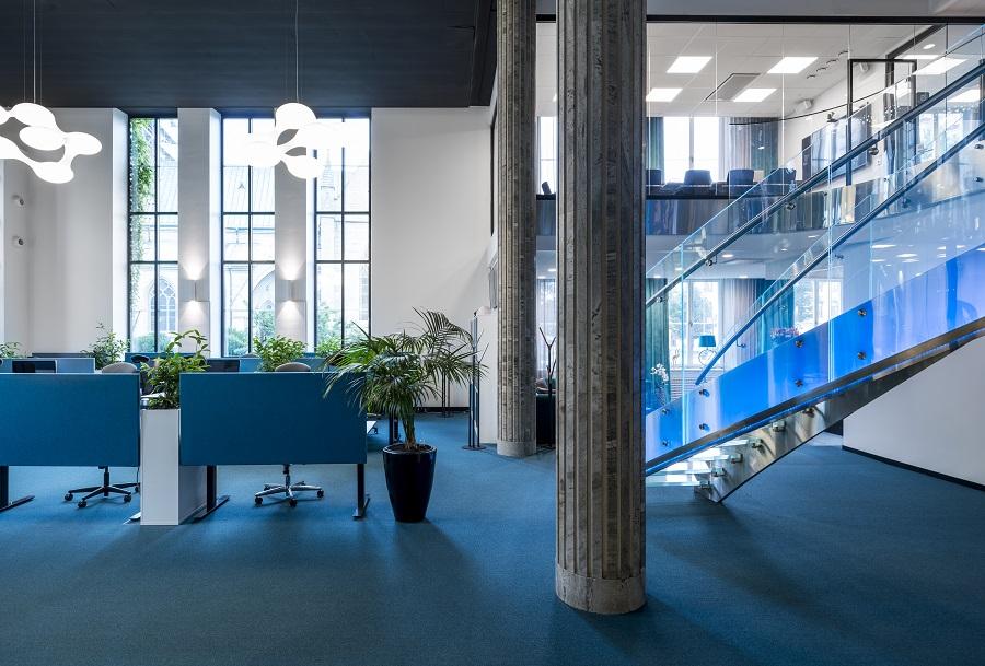 Heltäckande matta Format Exclusive 1030 på Sitevisions kontor, projekt av Kajenn Design & Inredning.