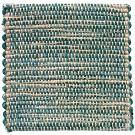 Handvävd matta Canvas, färg Lagoon turkos.