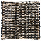 Handvävd matta Canvas, färg Pine svart.