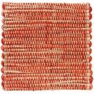 Handvävd matta Canvas, färg Tandori röd.