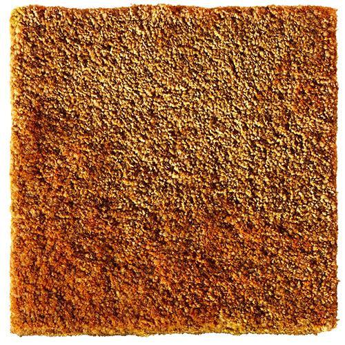 Handtuftad matta Vega Astro Mix, färg Amber orange.