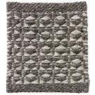 Handvävd matta Luna Grey grå.