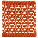 Handvävd matta Luna Terracotta orange.