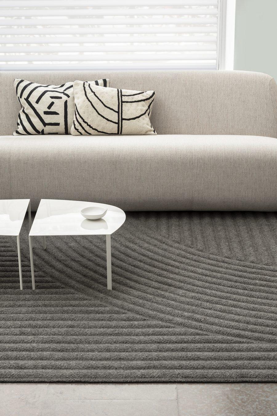 Handtuftad matta Zen från Ogeborg Design Collection, designsamarbete med Axel Bjurström.