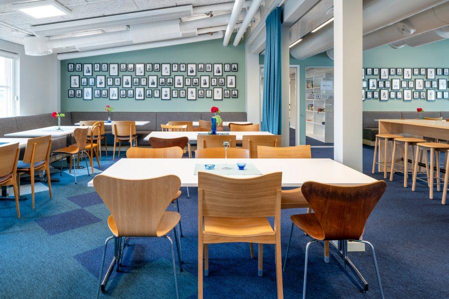 Textil platta Tivoli på IVL Svenska Miljöinstitutet, projekt av Spectrum Arkitekter.