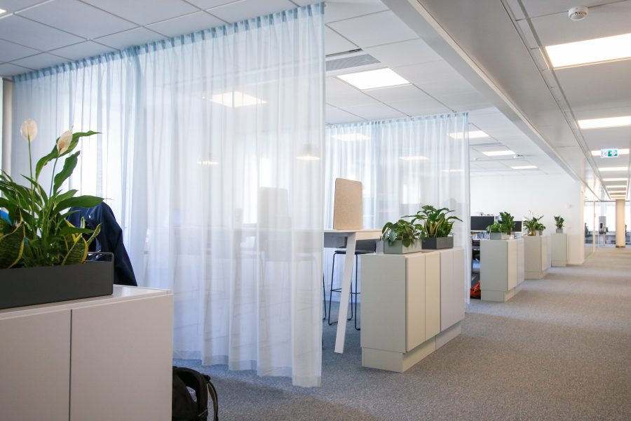 Textil platta Tivoli på Poolia's kontor, projekt av Part Bukowska.