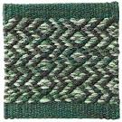 Handvävd matta Apollo färg Pine grön från Ogeborg Design Collection.
