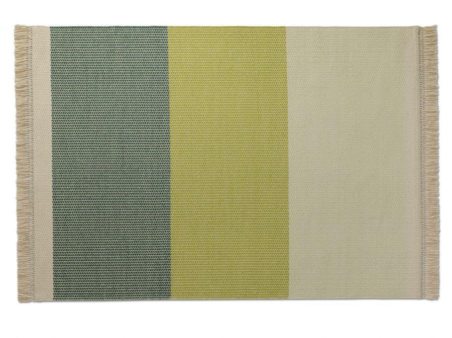 Handvävd matta Twine färg Petrol Green, designsamarbete med Alexander Lervik.