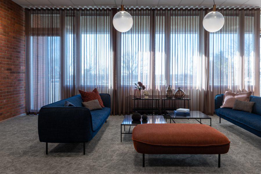 Textil platta Osaka på Affibody, projekt av Hökars Inredning & Inchi Interior.