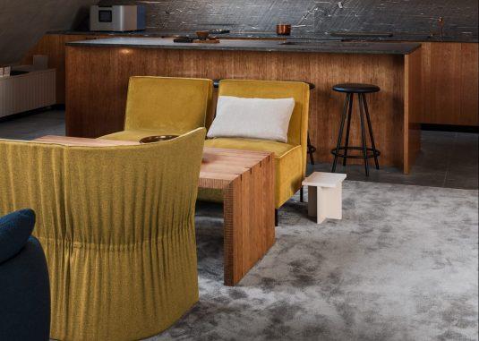 Frame Superior 1064 i lounge på restaurang Franzén, projekt av Joyn Studio.