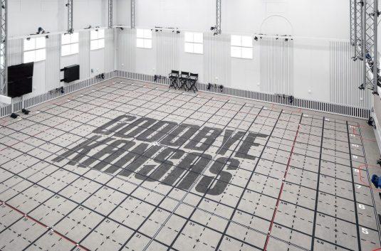 Heltäckande printad matta i Goodbye Kansas studio, projekt av Tengbom och Senab.