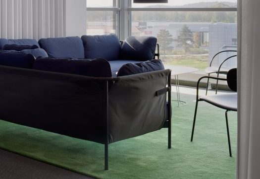 Handtuftad matta Vega på Arcam's kontor, Gestalt arkitektur.