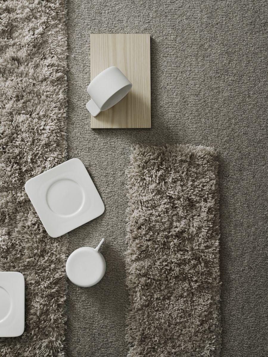 Handtuftad matta Space designad av Sundling Kickén.