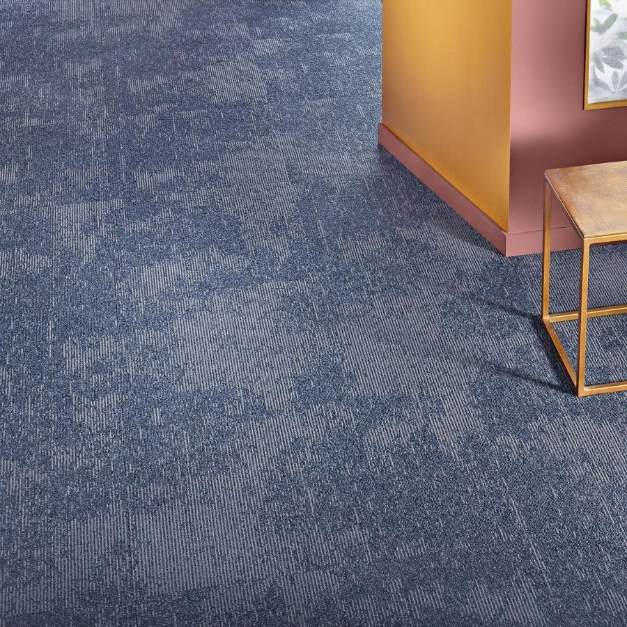 Textil platta Contura Superior 1054 färg 3Q35 blå.